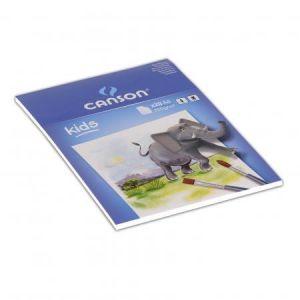 Canson 400015588 - Bloc Eveil enfants 5ans+ 20 feuilles peinture A4 200g/m², blanc