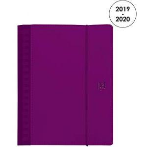 Oxford Agenda semainier 2019/2020 - My Fab - Format 15 x 21 cm - Violet