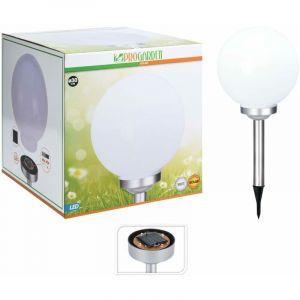Progarden Lampe solaire à LED Ball 30 cm Blanc