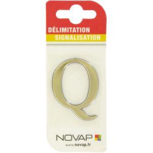 Adhésif plastique en relief coloris or Novap - Q