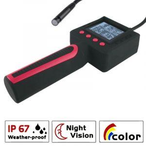 Image de WeWoo Endoscope numérique Inspection visuelle 4 d endoscope vidéo imperméable à l eau de LED avec l affichage à cristaux liquides de couleur de 2,4 pouces, diamètre extérieur de tête de caméra: 10mm