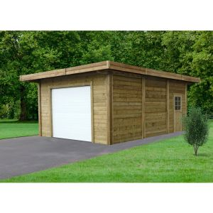 Solid Garage bois Mokai / toit plat / 22,20 m²