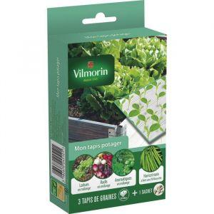Vilmorin Mon tapis potager aromatiques, laitues, radis, 1 sachet haricot mascotte 80 g