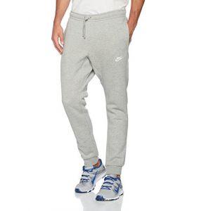 Nike Sportswear Pantalon Homme, Gris (DK Grey Heather/White), FR : M (Taille Fabricant : M)
