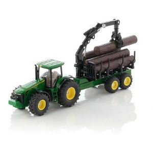 Siku 1954 - Tracteur avec remorque forestière - Echelle 1:50
