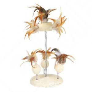 Trixie Jouet en loofa avec ressorts spiralés 30cm