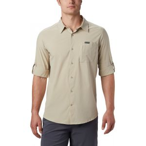 Columbia Triple Canyon Solid Chemise manches longues Homme, fossil XL T-shirts techniques
