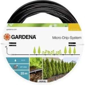 Gardena Tuyau à goutteurs incorporés de surface Micro-Drip - 25 m- 4 l/h