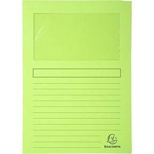 Exacompta 50107E - Paquet de 100 chemises à fenêtre FOREVER, coloris vert pré