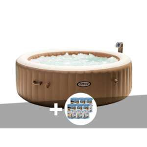 Intex Kit Spa gonflable PureSpa rond 4 places + 12 cartouches