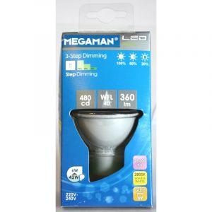 Megaman SPOT LED STEP DIMMING GU10 6W 360LM 2.8K