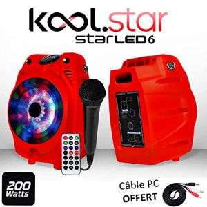 My deejay Karaoké PARTY Enfants 200W Micro - STARLED6-RED LEDs