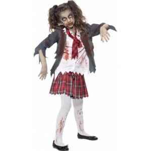 Déguisement zombie écoliere fille Halloween 7-9 ans