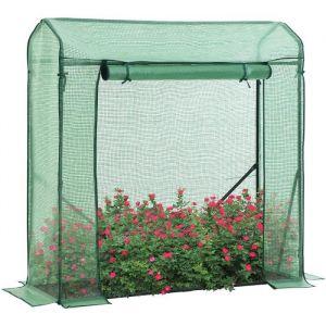 Songmics Serre de Jardin, Abri avec Porte Enroulable, pour légumes, tomates, Concombre, Potager, extérieur 150 x 50 x 150 cm, Vert GWP16JB