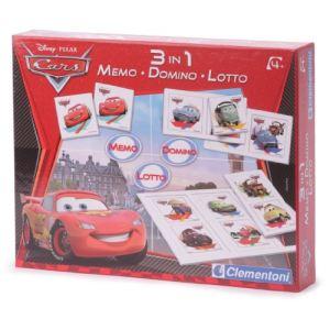 Clementoni Coffret jeux 3 en 1 Cars 2 : Memo, Domino, Loto
