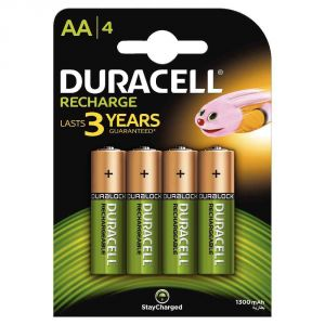 Duracell 4 piles rechargeables AA Plus Power