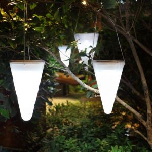 Lumisky Balise suspendue lumineuse solaire LED 10x10x34cm
