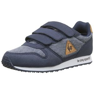 Le Coq Sportif Alpha PS Craft Dress Blue/Brown Sugar, Baskets Garçons, Beige Bleu, 35 EU