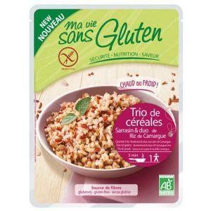 Ma vie sans gluten Trio céréales au naturel sarrasin, 2 riz de Camargue 220gr