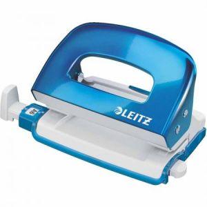 Leitz 5060-10-36 - Mini-perforateur 2 trous Wow, capacité 10 feuilles, coloris bleu métallique