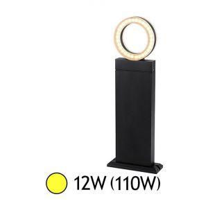 Vision-El POTELET RECTANGULAIRE LED 0,5 M 12W DIFFUSEUR ROND 3000°K GRIS IP54