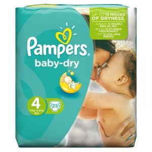 Pampers Baby Dry taille 4 Maxi 7-18 kg - 25 couches