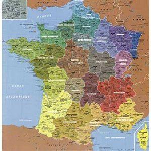 Puzzle Michèle Wilson Puzzle maxi Géographie: Carte de france 24 pièces