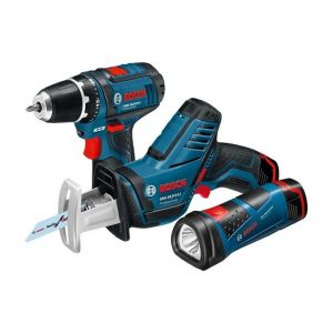 Bosch Pack 3 machines GSR 10,8-2-LI + GSA 10,8 V-LI + GLI PowerLED
