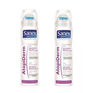 Sanex Advanced Atopiderm - Anti-transpirant spray 24h peaux sensibles à réactives, à tendance atopique