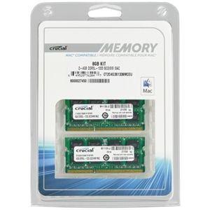 Crucial CT2K4G3S1339M - Barrettes mémoire 2 x 4 Go DDR3 1333 MHz SoDimm 204 broches pour Mac