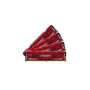 Crucial Ballistix Sport 32 Go (4 x 8 Go) DDR4 2400 MHz CL16 SR - Rouge