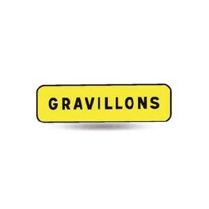 Taliaplast 525312 - Panonceau indication gravillons km t1 700x200mm