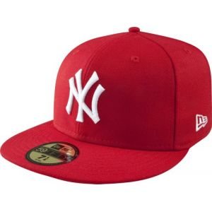 A New Era Mlb Basic Ny Yankees Fitted Caps casquette scarlet 7 3/4