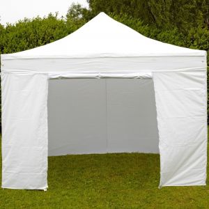 MobEventPro Mur porte zippable tente pliante PRO 40MM 4,5m blanc