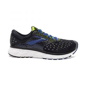 Brooks Chaussures running Glycerin 16 - Black / Lime / Blue - Taille EU 41