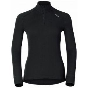 Odlo Originals Warm T-Shirt chaud col zipp manches longues femme Noir Taille Fabricant : L