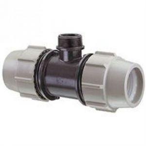 Plasson Té 90° avec dérivation filetée PE compression Ø40-11/4 de - Catégorie Raccord PE compression