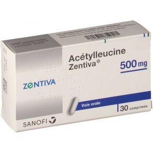Sanofi Acétylleucine Zentiva 500 mg - 30 comprimés