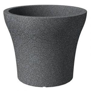 Scheurich 55392 258/48 No1 Stone Pot de Fleurs Plastique Granit Noir 47 x 47 x 40 cm