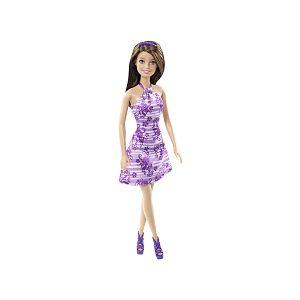 Mattel Poupée Barbie CMM09 Teresa Robe à fleurs violette