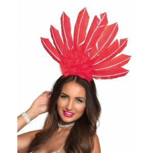 Boland 52102 Serre-tête Samba Rouge