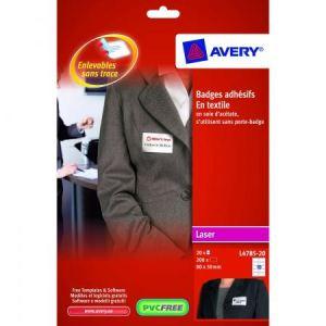 Avery-Zweckform 200 badges adhésifs en tissu (5 x 8 cm)