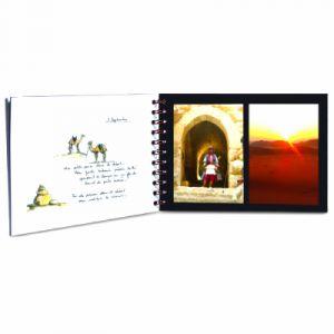 Clairefontaine 781064C - Album de Voyage Age Bag 297x210, 80p./40 feuilles 120 g/m² / 160 g/m² reliure intégrale, couv. coloris bleu, ligné / uni