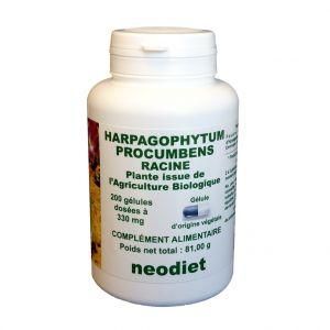 Neodiet Gélules d'harpagophytum bio en boite de 200 unités