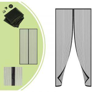 Leogreen Moustiquaire à Aimant, Rideau à Aimants pour Porte, 220 x 100 cm, Noir, Matériau: Aimant, Polyester
