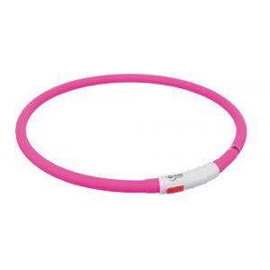 Trixie Flash anneau lumineux usb - XS-XL: 70 cm/ø 10 mm, rose