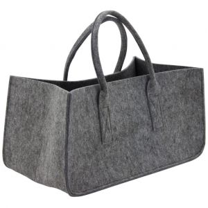 Image de Aubry Gaspard Sac à bûches gris en feutrine