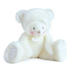 Doudou et Compagnie Trop mimi ourson blanc 30 cm