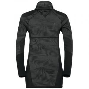 Odlo Performance Blackcomb Suw Top With Facemask - Black / Concrete Grey / Silver - Taille L