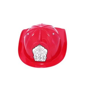 Casque pompier rouge